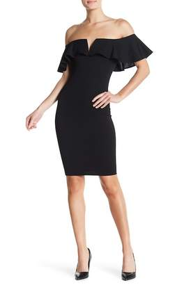 Blvd Ruffle Top Bodycon Dress
