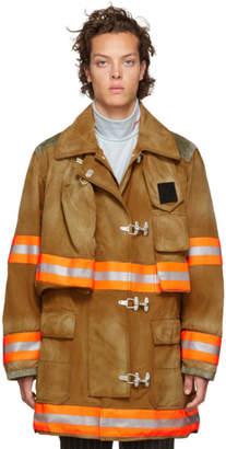Calvin Klein Brown Aged Fireman Coat