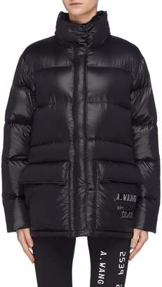 Alexander Wang Credit card textured print oversized down puffer jacket