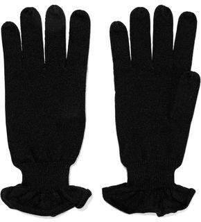 Autumn Cashmere Ruffle-Trimmed Cashmere Gloves