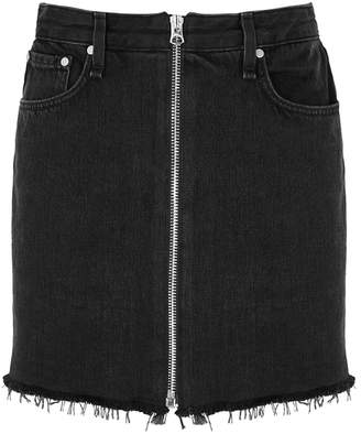 Rag & Bone Anna Black Denim Mini Skirt