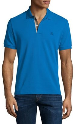 Burberry Core Short-Sleeve Pique Polo Shirt, Bright Opal $175 thestylecure.com