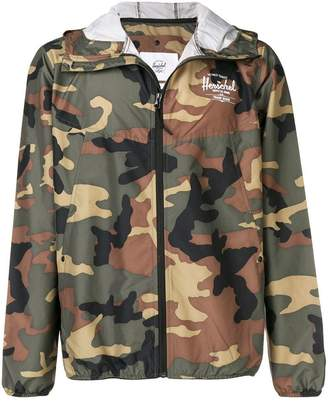 Herschel camouflage hooded wind-breaker jacket