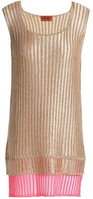 Missoni Layered Metallic Ribbed-knit Tank