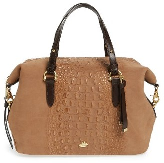 Brahmin Wilmington Delaney Embossed Nubuck Satchel - Metallic $375 thestylecure.com