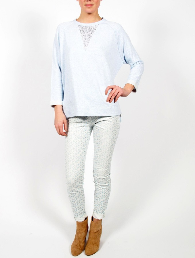 Band Of Outsiders High-Waisted Floral Print Skinny Jean