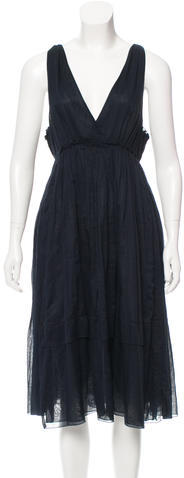 Miu Miu Miu Miu Sleeveless Midi Dress