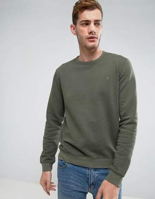 Farah Pickwell Slim Fit Garment Dyed Sweat in Green