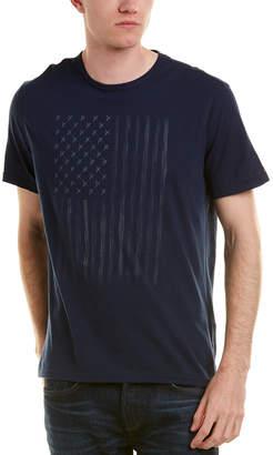 John Varvatos Zipper Star Stud Flag T-Shirt