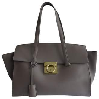 Salvatore Ferragamo Grey Leather Bags For Women - ShopStyle UK 8f1980f852227