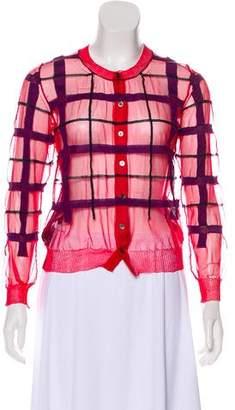 Junya Watanabe Mesh Button-Up Cardigan