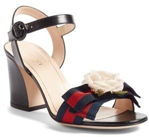 Women's Gucci Cindi Quarter Strap Sandal $795 thestylecure.com