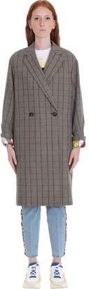 Stella McCartney Blackwood All Together Now Coat In Grey Wool