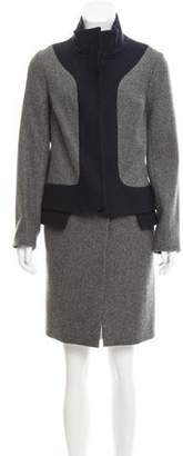 Lela Rose Zip-Up Wool Coat