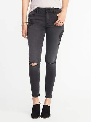 Old Navy Mid-Rise Embroidered Rockstar Jeans for Women