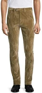 John Varvatos Crushed Velvet Slim-Fit Pants