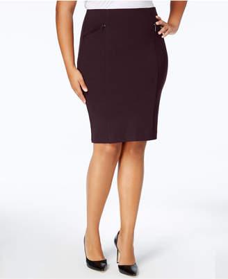 Alfani Plus Size Ponte Pencil Skirt, Created for Macy's