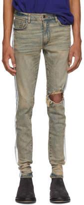 Amiri Indigo Broken Track Jeans