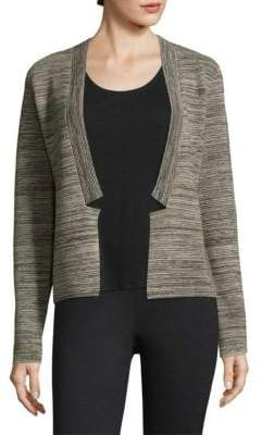 Eileen Fisher Stripe Open-Front Cardigan