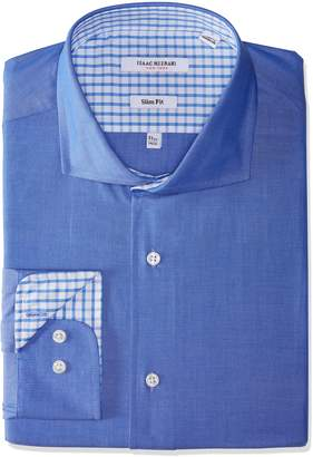 Isaac Mizrahi Men's Slim Fit Solid Cut Away Collar Dress Shirt