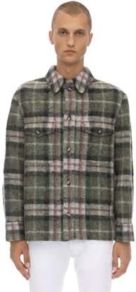 Isabel Marant Gervon Check Wool Blend Shirt Jacket