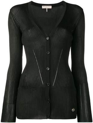 Emilio Pucci Black Ribbed Knit Cardigan