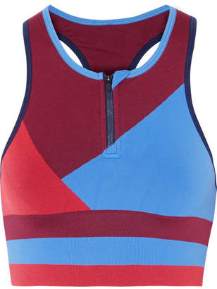 LNDR - Wild Cat Paneled Stretch-jersey Sports Bra - Burgundy