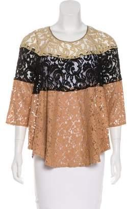 Hoss Intropia Colorblock Lace Top