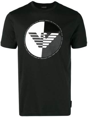 Emporio Armani monochrome logo patch T-shirt