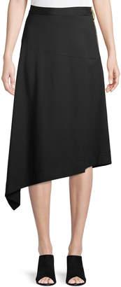 Donna Karan Asymmetric Exposed Side-Zip Skirt