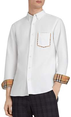 Burberry Harry Check-Accented Regular Fit Shirt