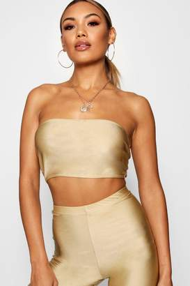 boohoo Slinky High Shine Bandeau