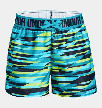 Under Armour Girls' UA Play Up Printed Shorts