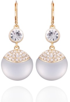 T Tahari Frosted Lucite Drop Earring