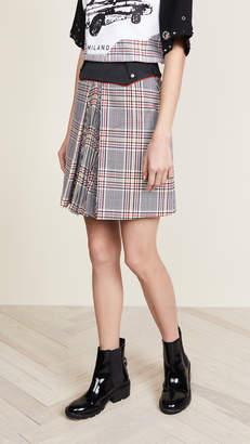 Versus Plaid Miniskirt