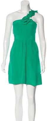 Yumi Kim Silk One-Shoulder Dress