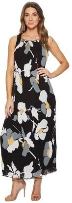 Catherine Malandrino Delphine Strap Back Pleated Maxi Dress Women's Dress