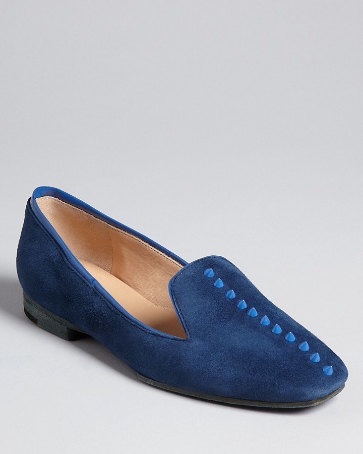 Belle by Sigerson Morrison Studded Smoking Flats - Ramona
