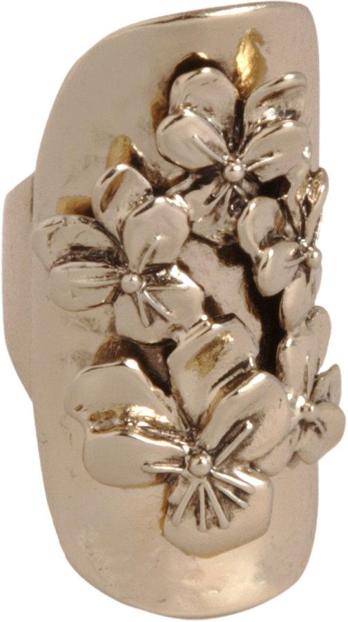 Bidermann Brass Pansy Ring