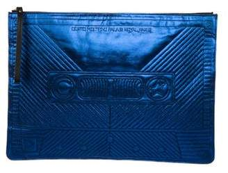 Corto Moltedo Metallic Envelope Clutch
