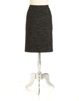 NIPON BOUTIQUE Metallic Tweed Pencil Skirt