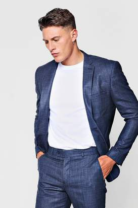 boohoo Textured Skinny Fit Suit Jacket