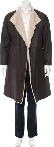 BrioniBrioni Suede Shearling Coat