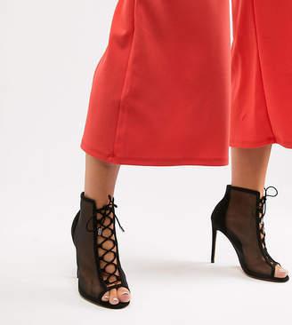 Asos Design DESIGN Wide Fit Phizzle Mesh High Heels