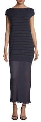 Alexander Wang Striped Knit Sheer-Hem Maxi Dress