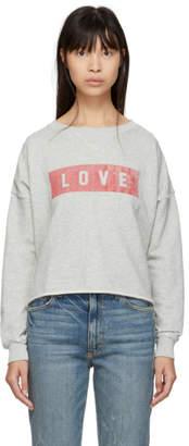 Amo Grey Love Cut-Off Sweatshirt
