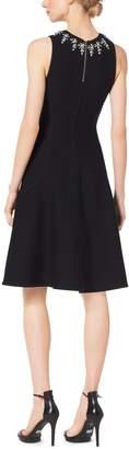 Michael Kors Embellished Merino Wool Dress