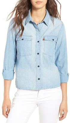 Women's Levi's Western Denim Shirt $79.50 thestylecure.com