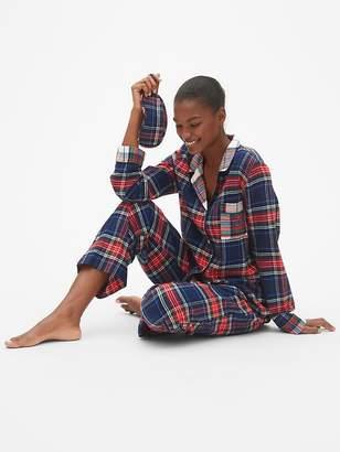 Gap Cozy Flannel PJ Set with Eye Mask