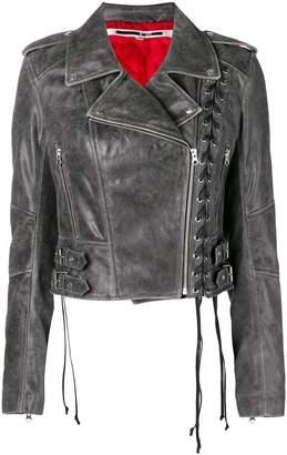 McQ longsleeved biker cropped jacket